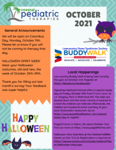 October 2021 newsletter page 1